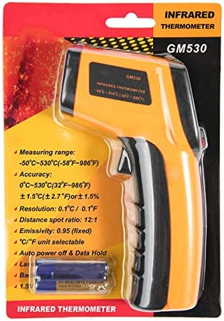 Andifany GM530 Digital Thermometer Non Contact Infrared Thermometer Temperature with LCD Backlight Display