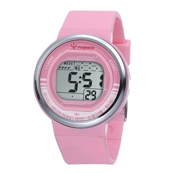 De dibujos animados para niños Seguir/Chicas relojes Sport/Jalea reloj digital regalos de cumpleaños-rosa: Amazon.es: Relojes