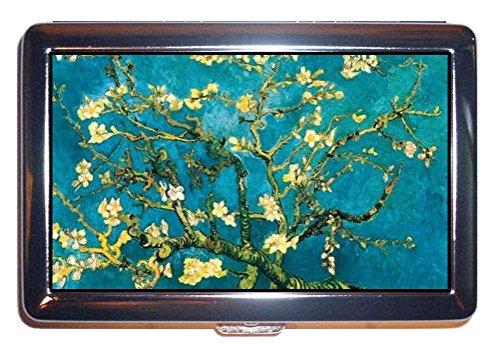 Vincent Van Gogh Almond Blossom Retro Chic ID Cigarette Case Wallet RFID Protection (Retro Cigarette)