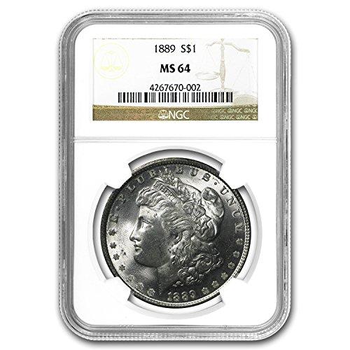 1889 Morgan Dollar MS-64 NGC $1 MS-64 NGC (1889 Morgan Dollar Silver Coin)