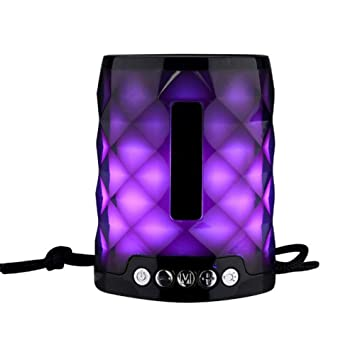 YSCYLY Colorido LED Altavoz Bluetooth Al Aire Libre Altavoz ...