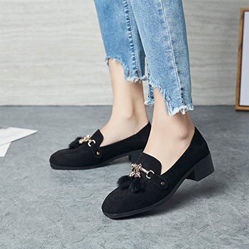 de Kyle Zapatos cuadrada mujer tacón Pa diseño Walsh retro Negro para punta qqFUatw