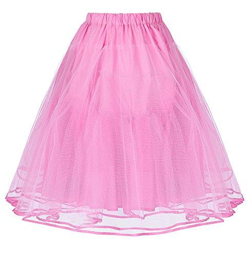 Belle Poque? retro vintage Dress crinolina sottogonna gonne Rosa(bp0229-4)