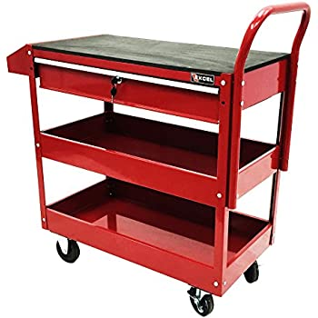 Amazon Com Excel Tc301c Red 36 Inch Steel Tool Cart Red
