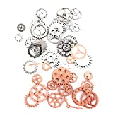 MonkeyJack 40 Pieces Steampunk Charms Gear Clock Watch Parts Pendant Jewelry Findings DIY Necklace Bracelet Making Crafts