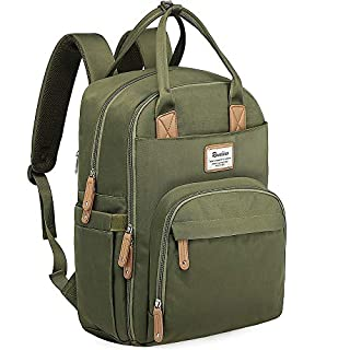 Diaper Bag Backpack, RUVALINO Multifunction Travel Back Pack Maternity Baby Changing Bags, Large Capacity, Waterproof and Stylish, Army Green