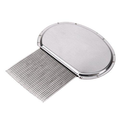 Pets Corner Market Terminator Lice Comb Nit Free Kids Hair Rid Headlice Superdensity Stainless Steel Metal Teeth Remove Nits Brush 8.5 x 7cm