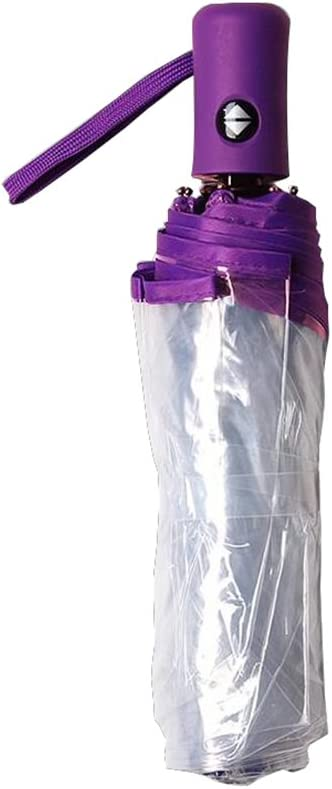 Couleur : Rose Parapluie Automatique de lauto-Fermeture Transparent Pliant Masculin Creative Creative Petit