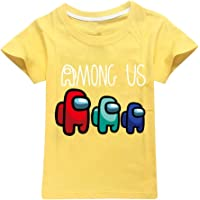 JDSWAN Unisex Niños Camiseta de Manga Corta T-Shirt de Verano Casual Tops para Among Us niñas y niños