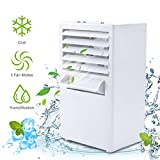 Air Conditioner Fan, Personal Air Cooler Portable Desktop Fan 3 Speed Mini Misting Evaporative Circulator Humidifier Noiseless Purifier for Room Office Desk Nightstand Dorm -Small 9.5-inch (White)