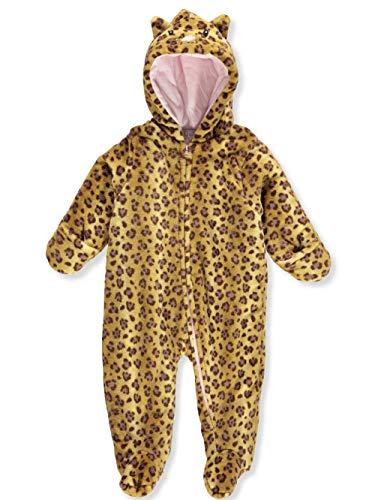 Quiltex Girls' Toddler Cute Kitty Heavyweight Warm Pram Suit, 3-6 Months