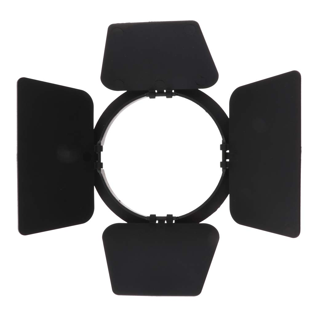 SM SunniMix Flash Accessory Barndoors Plate Studio Speedlight Reflector Barrier Kit for Canon Nikon Sony Camera Camcorder