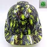 Wet Works Imaging Customized Pyramex Cap Style Green Terminator Skulls Hard Hat With Ratcheting Suspension
