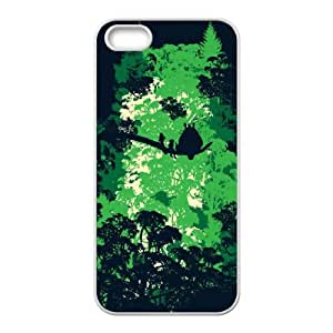 iPhone 5 5s Cell Phone Case White Forest Guardian YQW Custom Phone Case For Girls