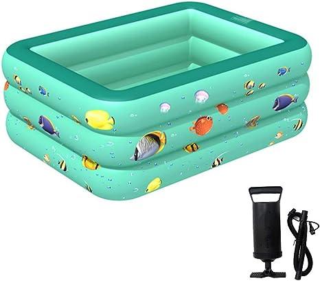 YIMENLR Piscina Inflable, Piscina Familiar De 210 X 135 X 55 Cm, Fácil De Montar, para Jardín Y Exterior: Amazon.es: Deportes y aire libre