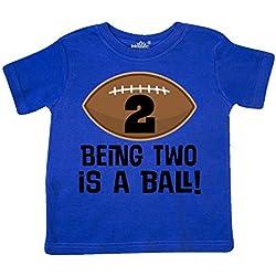 inktastic - 2nd Birthday Football Sports Boys Toddler T-Shirt 3T Royal Blue