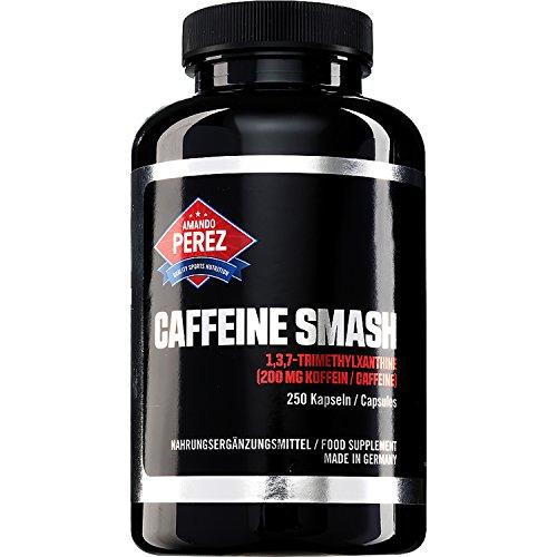 T-REX Caffeine Smash (200 mg Koffein 1,3,7-Trimethylxanthine) - hochdosiert - Made in Germany - 250 Kapseln