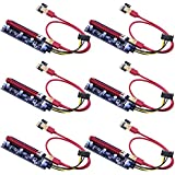 Mailiya 6-Pack PCIe Dual Chip PCI-E 16x to 1x Powered Riser Adapter Card w/60cm USB 3.0 Extension Cable & 6 Pin PCI-E to SATA Power Cable - GPU Riser Adapter Extender Cable - Ethereum Mining ETH