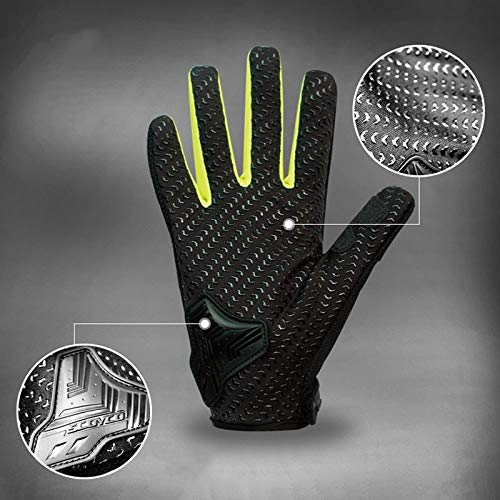 AINIYF Full Finger Motorcycle Gloves | Summer Men's Drop-Off Tactical Gloves Electric Car Racing Off-Road (Color : Green, Size : S) by AINIYF (Image #2)