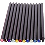 TOOGOO(R) 12 pcs/set Pencil HB Diamond Crayon Stationery Items Drawing Provides Fun Pencils Basswood For School Office School, Black