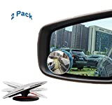 Blind Spot Mirror Adjustable Blind Spot Mirror Stick On Blind Spot Mirrors Frameless 2