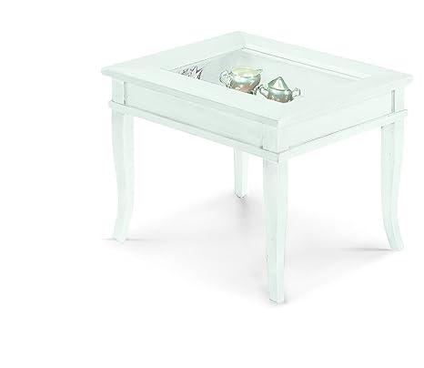 Tavolino Da Salotto Quadrato Classico.Lo Scrigno Arredamenti Tavolino Quadrato Da Salotto Classico Con Vetro W1016 L