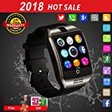 Smart Watch Android Phones,Waterproof Smart Watches,Android Smartwatch Touchscreen Camera,Bluetooth Watch Phone SIM Card Slot Compatible Samsung iOS iPhone X 8 7 6 6S Plus 5 Men Women
