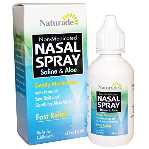 Naturade, Nasal Spray, Saline & Aloe, 1.5 fl oz (45 ml) - 3PC