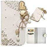 """Bookstyle Wallet Case for Asus Zenfone 2 Laser ZE550KL 5.5"""" Smartphone - Generic 3D Bling Rhinestone Diamond Cover PU Leather Magnetic Flip Stand Pouch + Stylus Pen(Pendant)"""