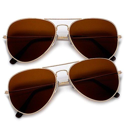 Lets Be Cops Police Aviator Style Sunglasses (2 Pack - Wayfarer Police Sunglasses