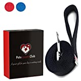 Black Dog Leashes   Comfortable Walking Padded Handle   Perfect Length to Control Strong Puppy That Likes to Pull   Great Training Leads for Canine   Dog Leash For Small Dogs & Cats   6ft x 1in