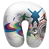 Neck Pillow With Resilient Material Sound Dance U Type Travel Pillow Super Soft Cervical Pillow