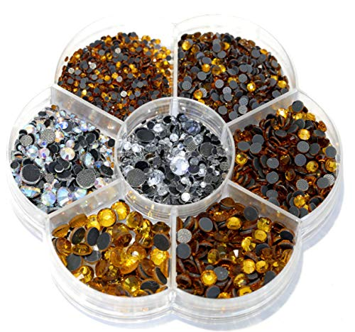 BLINGINBOX Hotfix Rhinestone 28 Colors to Choose 3000pcs Mixed Sizes(ss6-ss30) Topaz DMC Hot Fix Glass Rhinestone Glass