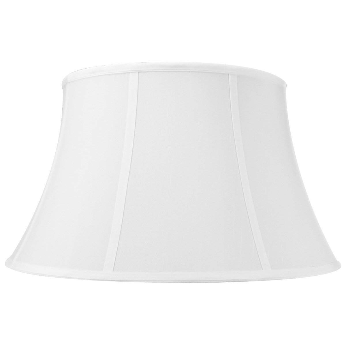 13x19x11 White Floor Shantung Lampshade with Brass Spider fitter By Home Concept - Perfect for table and Desk lamps - Large, White