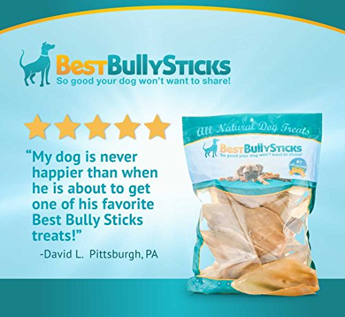 100 natural cow ear dog treats by best bully sticks 15. Black Bedroom Furniture Sets. Home Design Ideas