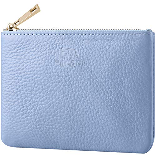 - FurArt Genuine Leather Coin Purse,Change Purse With Zipper,Soft Leather Coin Pouch Mini Size
