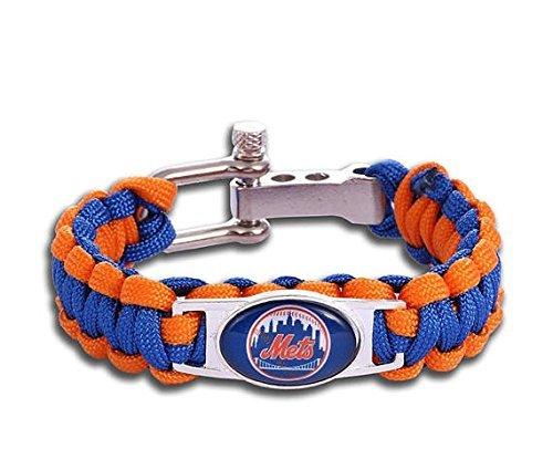 (Swamp Fox New York Mets Paracord Bracelet MLB Baseball Charm Survival Bracelet)