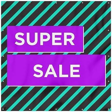 Modern Block Heavy-Duty Outdoor Vinyl Banner 8x8 CGSignLab Super Sale