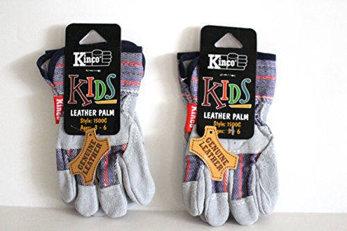[Kinco 1500 C (2-Pack) - Children's Genuine Leather Work Glove for Kids (Boys & Girls) - Exactly like the Adult] (Work Team Costumes)