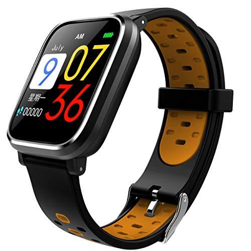 Fitness Tracker Large Color Screen Smart Watch Waterproof Sport Wristband Watch Heart Rate Sleep Monitor Pedometer Sedentary Reminder Watch (Orange) ()