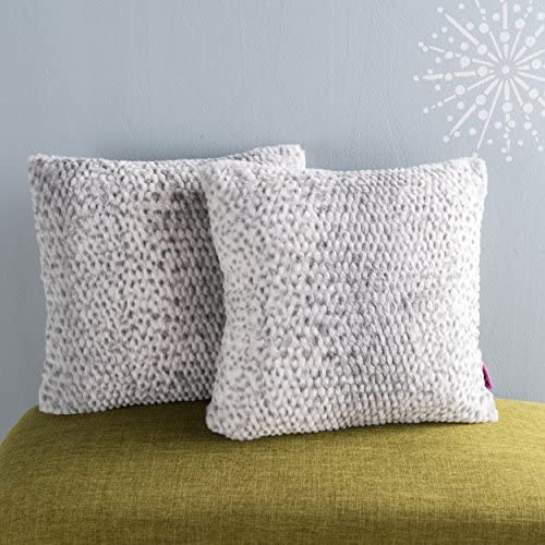 Christopher Knight Home Elise Fabric Pillows with Polyester Fiber Fill, 2-Pcs Set, Silver Dusk