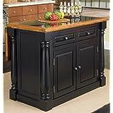 Home Styles 5009-94 Monarch Granite Top Kitchen Island, Black and Distressed Oak Finish