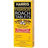 Harris Famous Roach & Silverfish Killer Tablets (6oz), Treats a Minimum of 12 Rooms, 145+ Tablets Included - 3 Packs Included