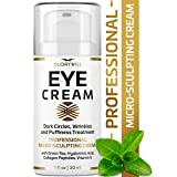 Professional Eye Cream - Anti-Aging & Wrinkle Cream for Women & Men - Made in USA - Reduces Dark Circles, Under-Eye Bags & Puffiness - Eye Care with Hyaluronic Acid & Vitamin E (1 oz)