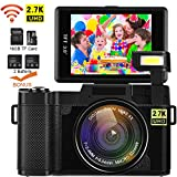 Video Camera Camcorder, DIWUER WiFi Digital Camera Recorder, 24.0MP Full HD 1080P Flip Screen...