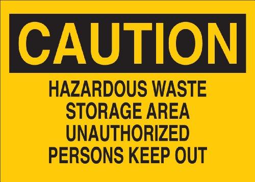 Brady 22710 Plastic Chemical & Hazardous Materials Sign, 10