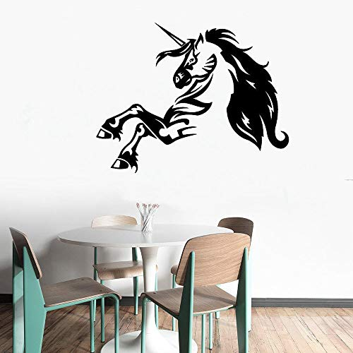 yaiso Wall Decal Magic Unicorn Animal Vinyl Wall Sticker Removable Baby Nursery Bedroom Horse]()