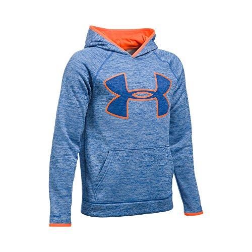 Under Armour Boys' Storm Armour Fleece Twist Highlight Hoodie, Ultra Blue/Blaze Orange, Youth Small