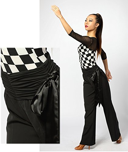 Élastique Scgginttanz Le De Ruban G4007 Moderne Professionnel fba black Pantalon Salon Satin Danse En 1w4Tz1xA
