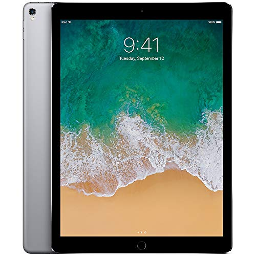 Apple iPad Pro (2017) 12.9in 64GB Wi-Fi Tablet, Space Gray (Renewed)